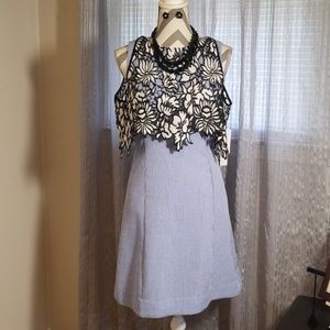 Nichole Miller dress sz 10 w/accessories